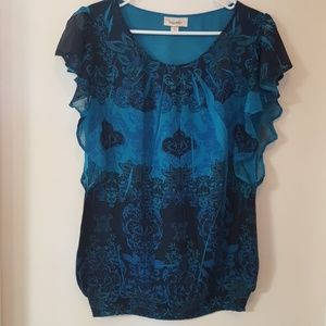 DRESSBARN Top with elastic waist size M
